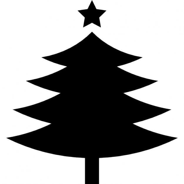 626x626 Christmas Tree Shape With A Fivepointed Star On Top Icons Free