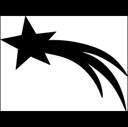 263x262 Free Svg Pdf Png Jpg Eps Shooting Star Silhouette Acricut