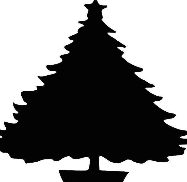 596x582 Tree, Sapling, Star, Interstellar, Christmas, Silhouette, Outline