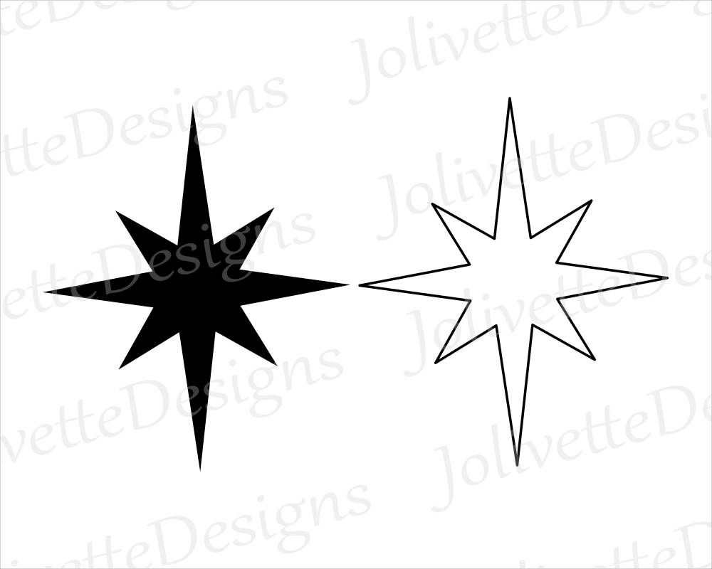 christmas star silhouette at getdrawings com free for personal use rh getdrawings com star of bethlehem pictures clip art