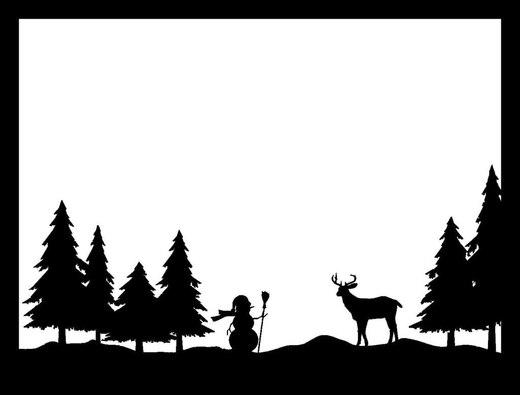 Christmas Town Silhouette at GetDrawings.com | Free for personal use ...