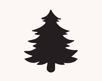 340x270 Christmas Tree Silhouette Clip Art Merry Christmas And Happy New