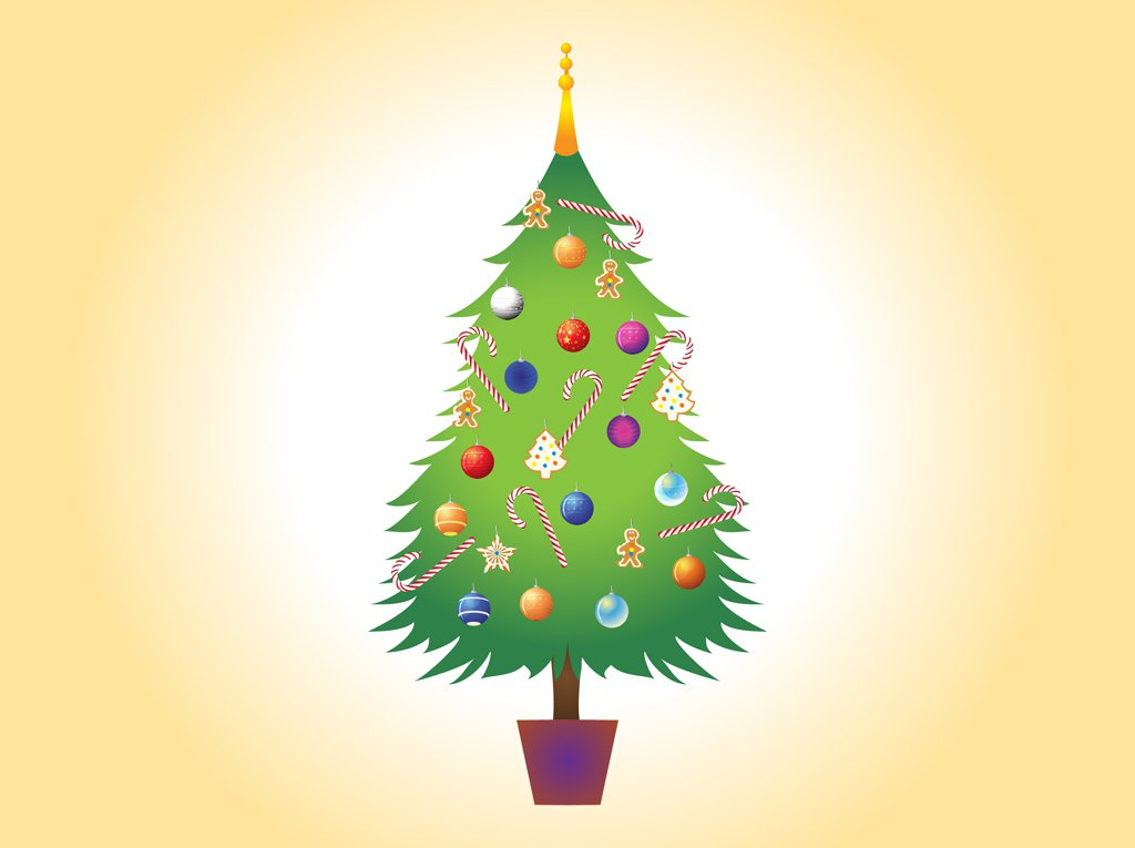 1024x765 Christmas Tree Vector Image Vector Art Amp Graphics