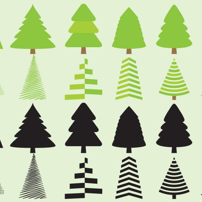 650x650 Free Vector Christmas Tree Silhouette Vectors