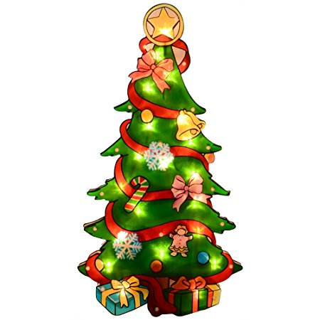 450x450 Glistening Christmas Tree Silhouette Christmas Decoration 20 Fairy