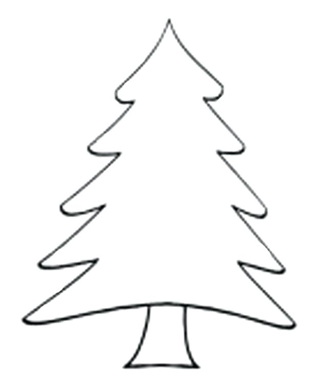 620x755 Christmas Tree Outline Christmas Tree Silhouette Vector