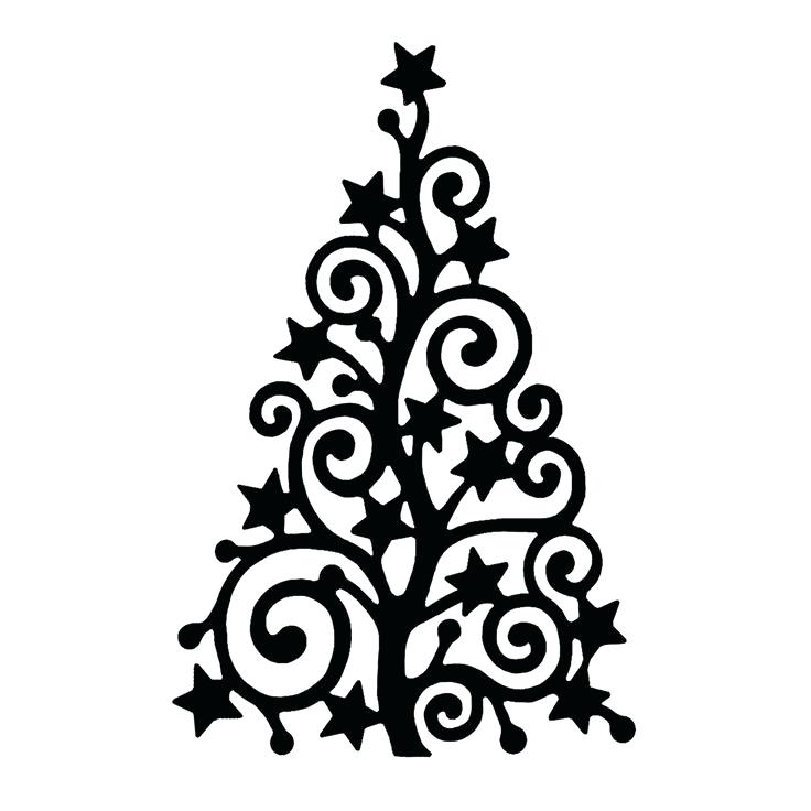 736x736 Christmas Tree Outline Tree Outline Isolate Tree Silhouette Vector