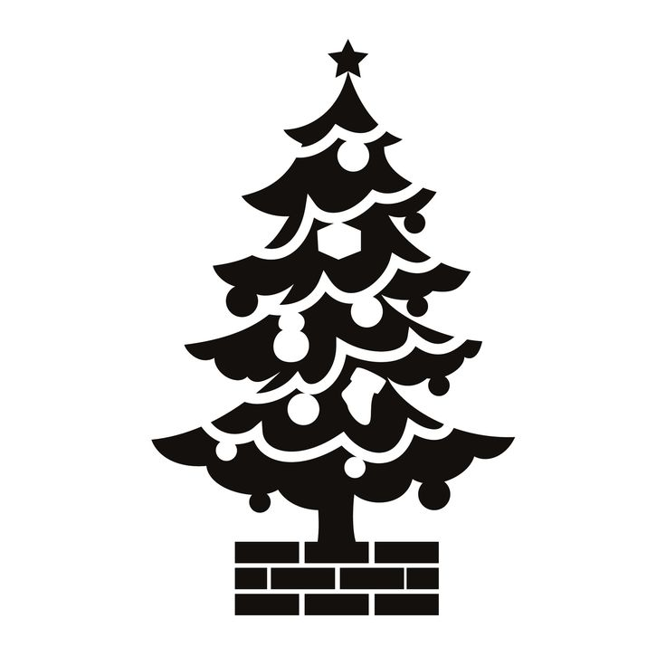 Christmas Tree Silhouette Clip Art