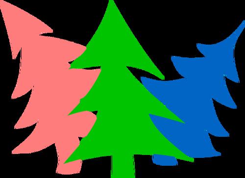 500x363 Christmas Tree Silhouettes Public Domain Vectors