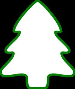 252x299 Green Christmas Tree Outline Clip Art