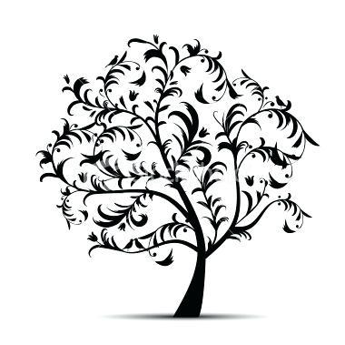 380x379 Tree Outline Clip Art Tall Palm Tree Silhouette Christmas Tree