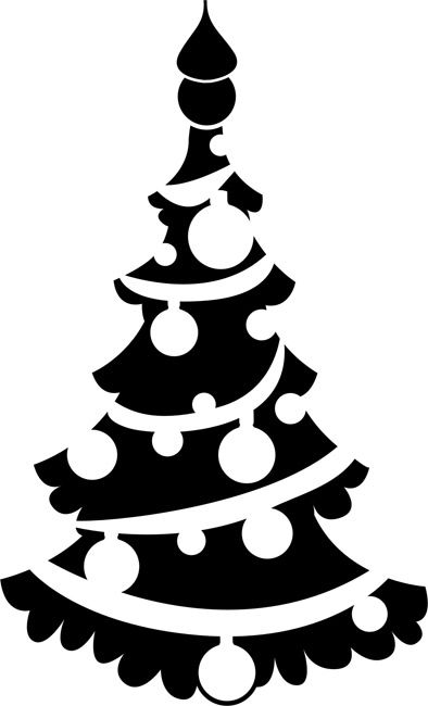 394x650 Vector Christmas Tree Quilts Painting Stencils