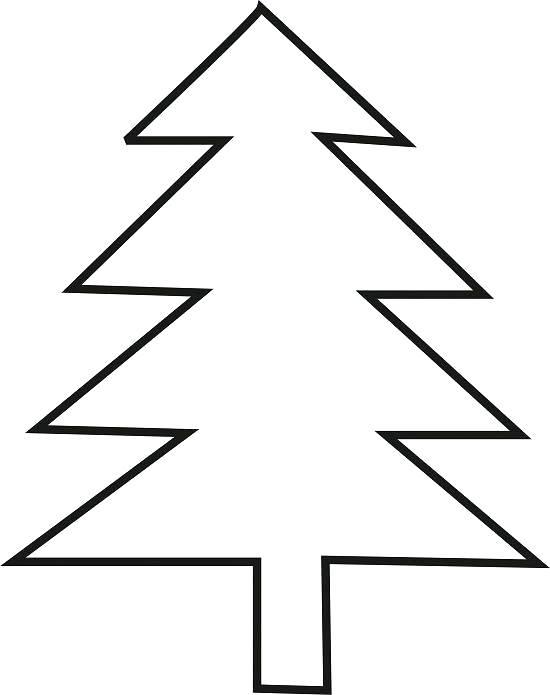 550x695 Christmas Tree Outline Christmas Tree Outline Printable