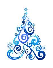 186x235 Blue Christmas Tree Clip Art Blue Christmas, Clip Art