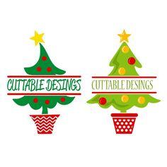 236x236 Snowy Christmas Tree Cuttable Design Cut File. Vector, Clipart