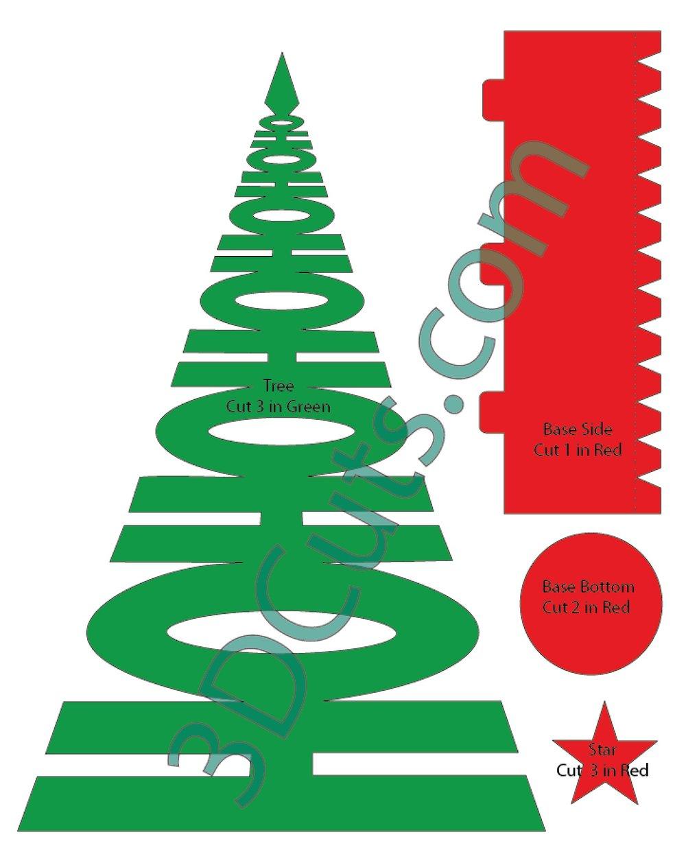 1000x1242 HoHoHo Christmas Tree Tutorial