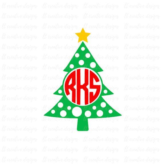 570x571 Christmas Tree Monogram, Christmas Tree Svg, Christmas Star Svg