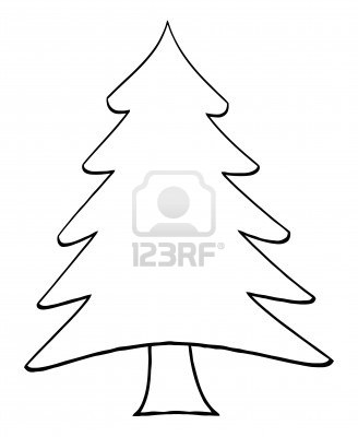Christmas Tree Vector Silhouette
