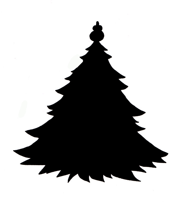 christmas trees silhouette at getdrawings com free for personal rh getdrawings com