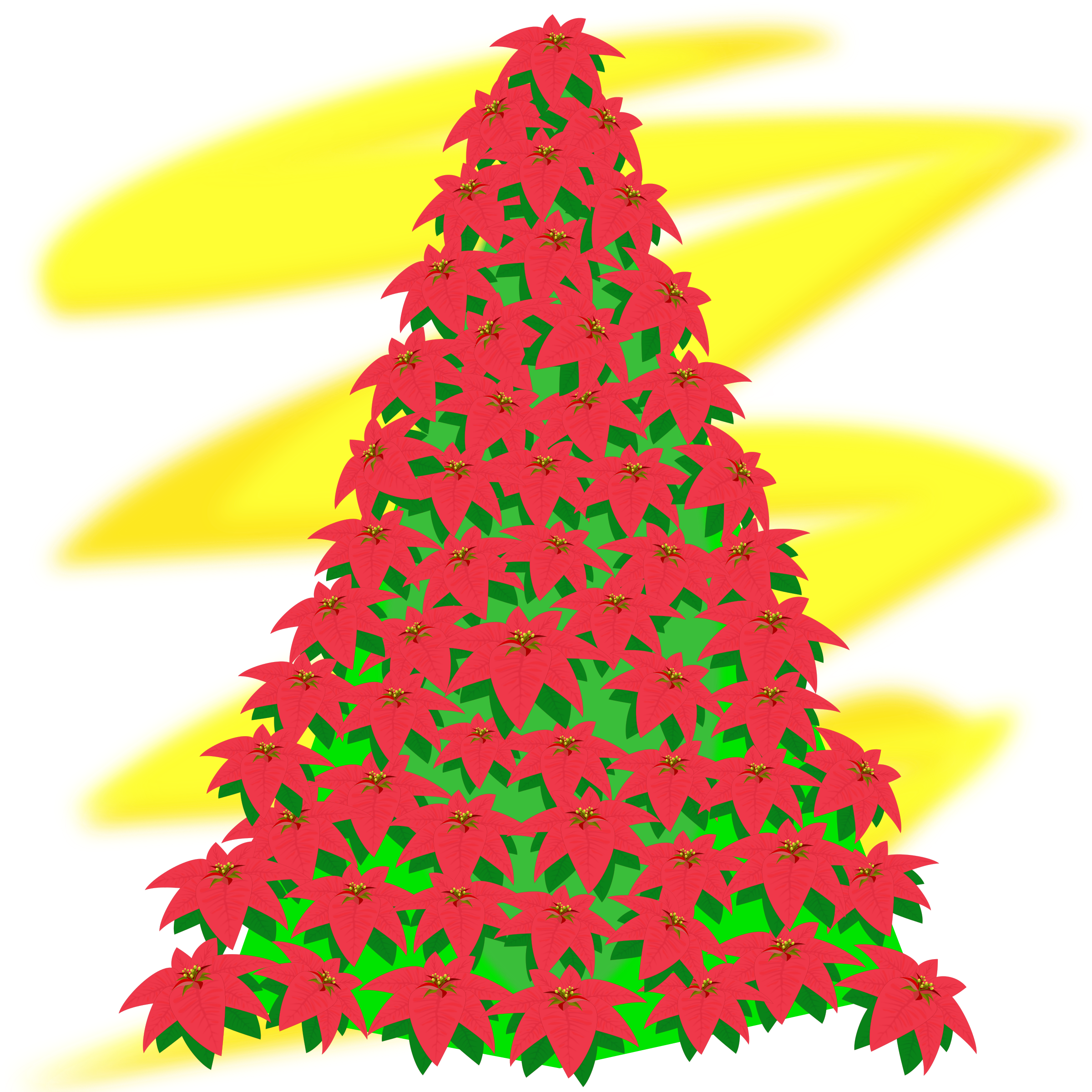 2400x2400 Free Christmas Tree Clipart Red Silhouette