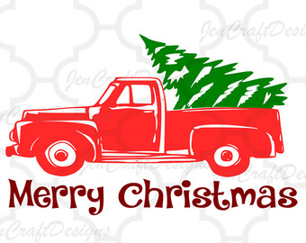 Christmas Truck Silhouette At GetDrawings