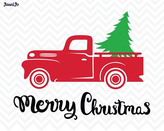 570x456 Christmas Tree Svg File,christmas Truck Svg,christmas Svg, Tree
