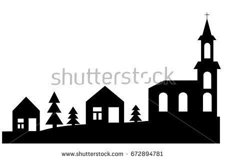 450x320 Bildergebnis Christmas Village Silhouette Weihnachten