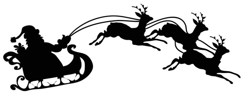 christmas silhouette clip art