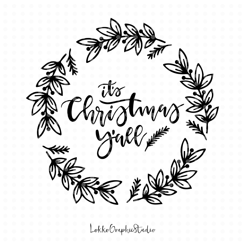 3000x3000 Merry Christmas Svg Christmas Svg Christmas Cut File Wreath