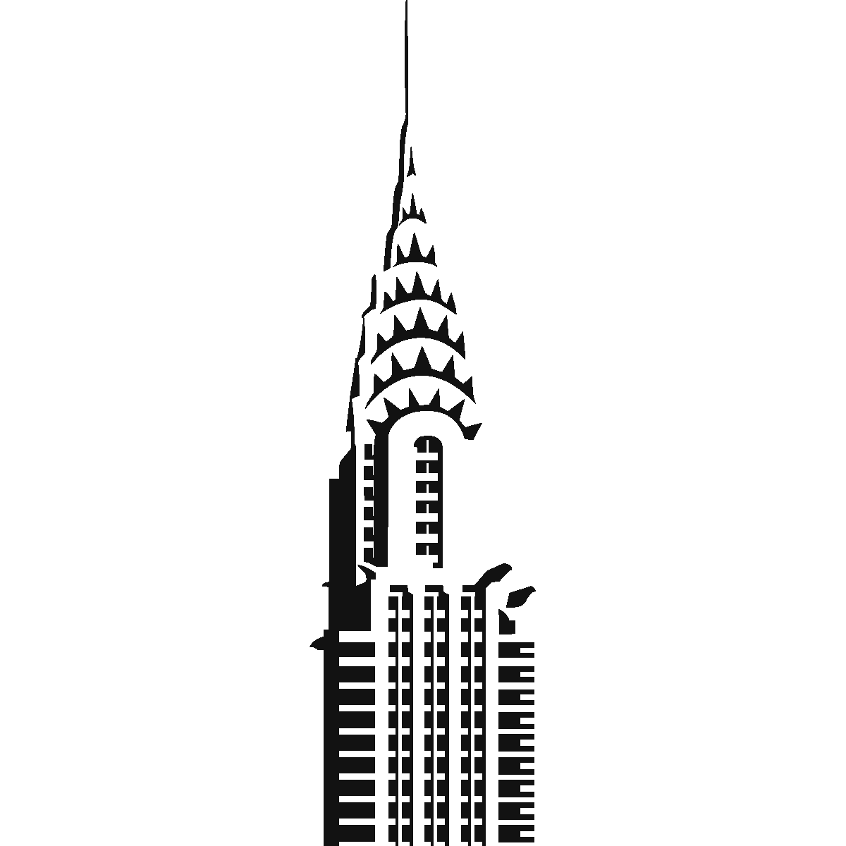 Chrysler Building Silhouette at GetDrawings | Free download