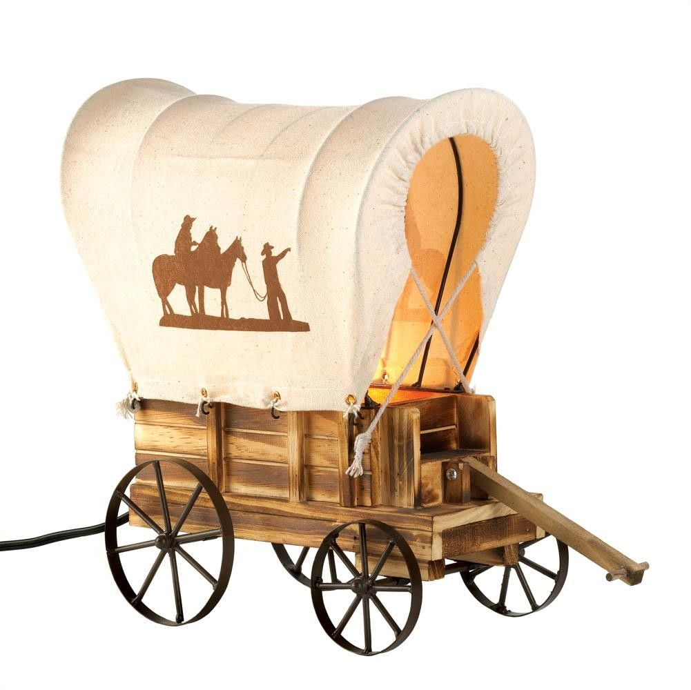 1001x1000 Western Wagon Table Lamp Western Wagon Table Lamp