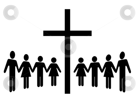 450x309 People Clipart Church