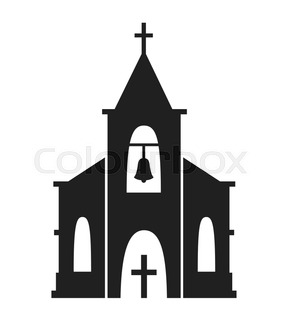 287x320 Church Icon Isolated On White Background. Vector Illustration