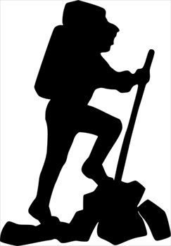 243x350 Free Hiker Silhouette Clipart