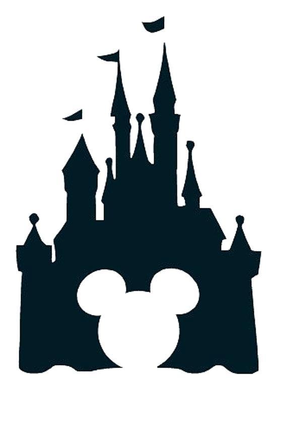 570x855 Disney Castle Vector Coloring Page 2019