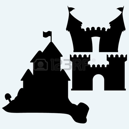 450x450 Silhouette Castle And Church Clipart