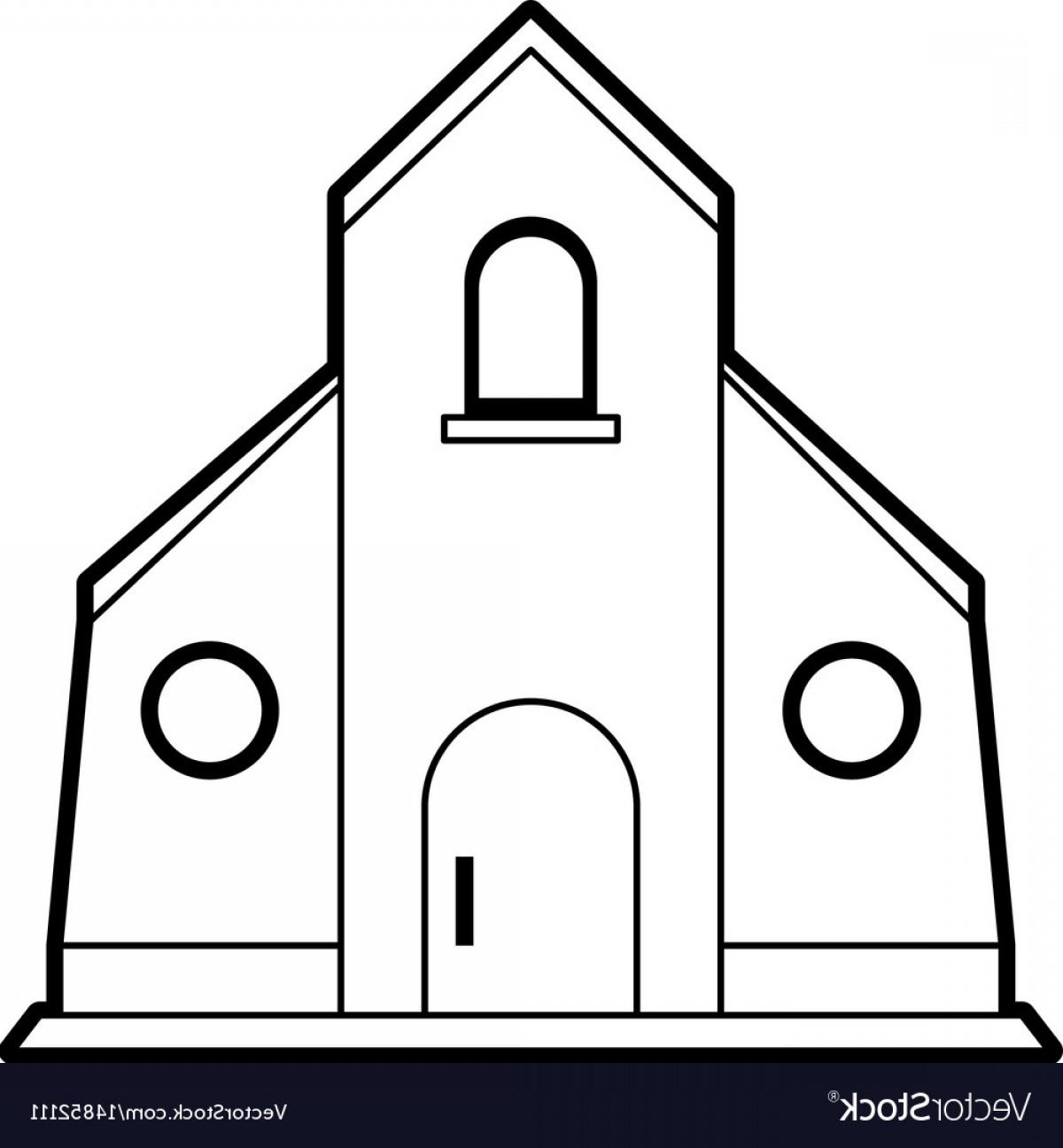1200x1296 Sketch Silhouette Image Church Building Vector Lazttweet