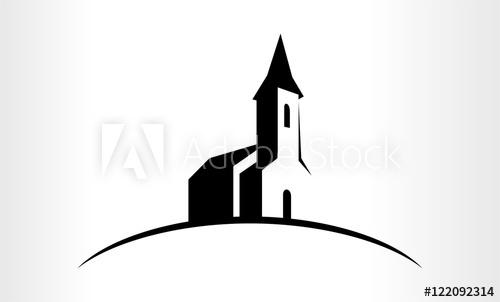 500x302 Vector Logo Illustration Of A Church
