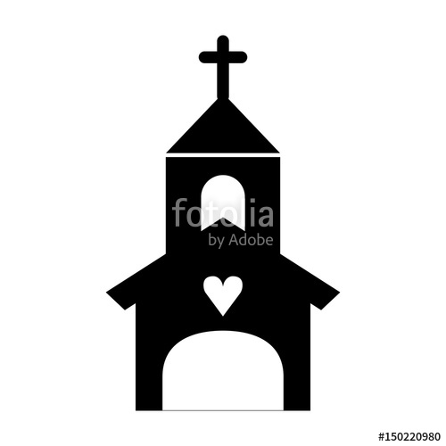 500x500 Church Building Isolated Icon Vector Illustration Design Stock