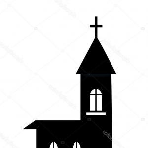 300x300 Church Black Silhouette Vector Sign On Lazttweet