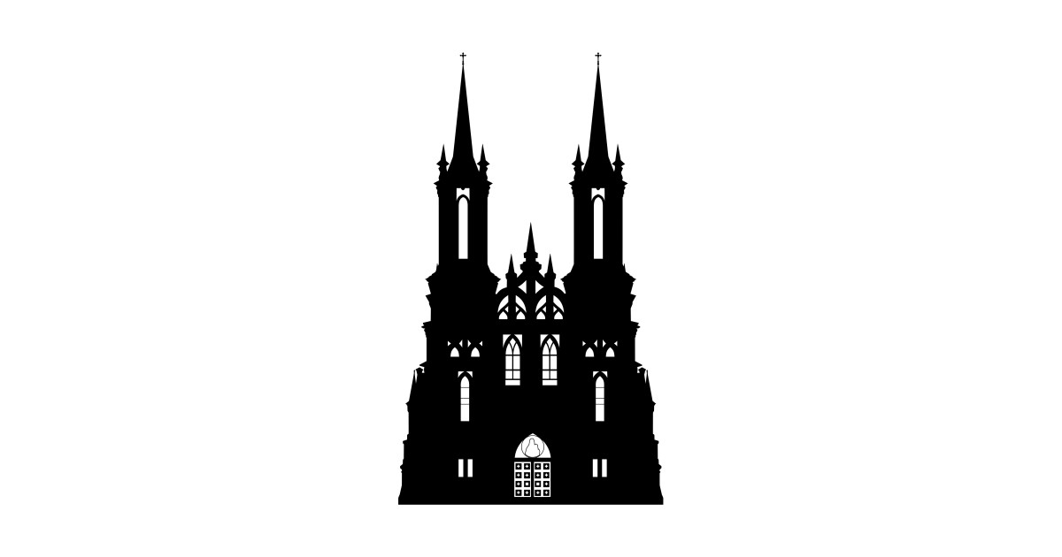 1200x630 Limited Edition. Exclusive Gothic Castle Silhouette