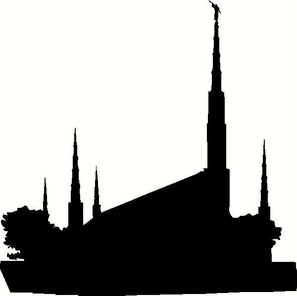 600x598 Lds Temple Silhouette Clipart