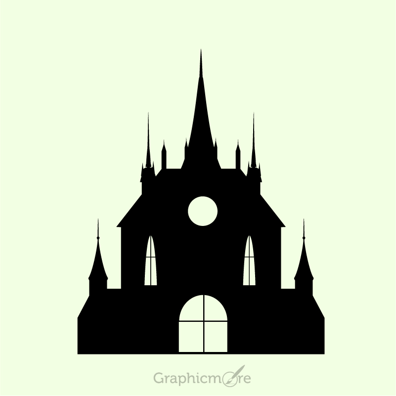 801x801 Church Design Free Vector File Download By Graphicmore