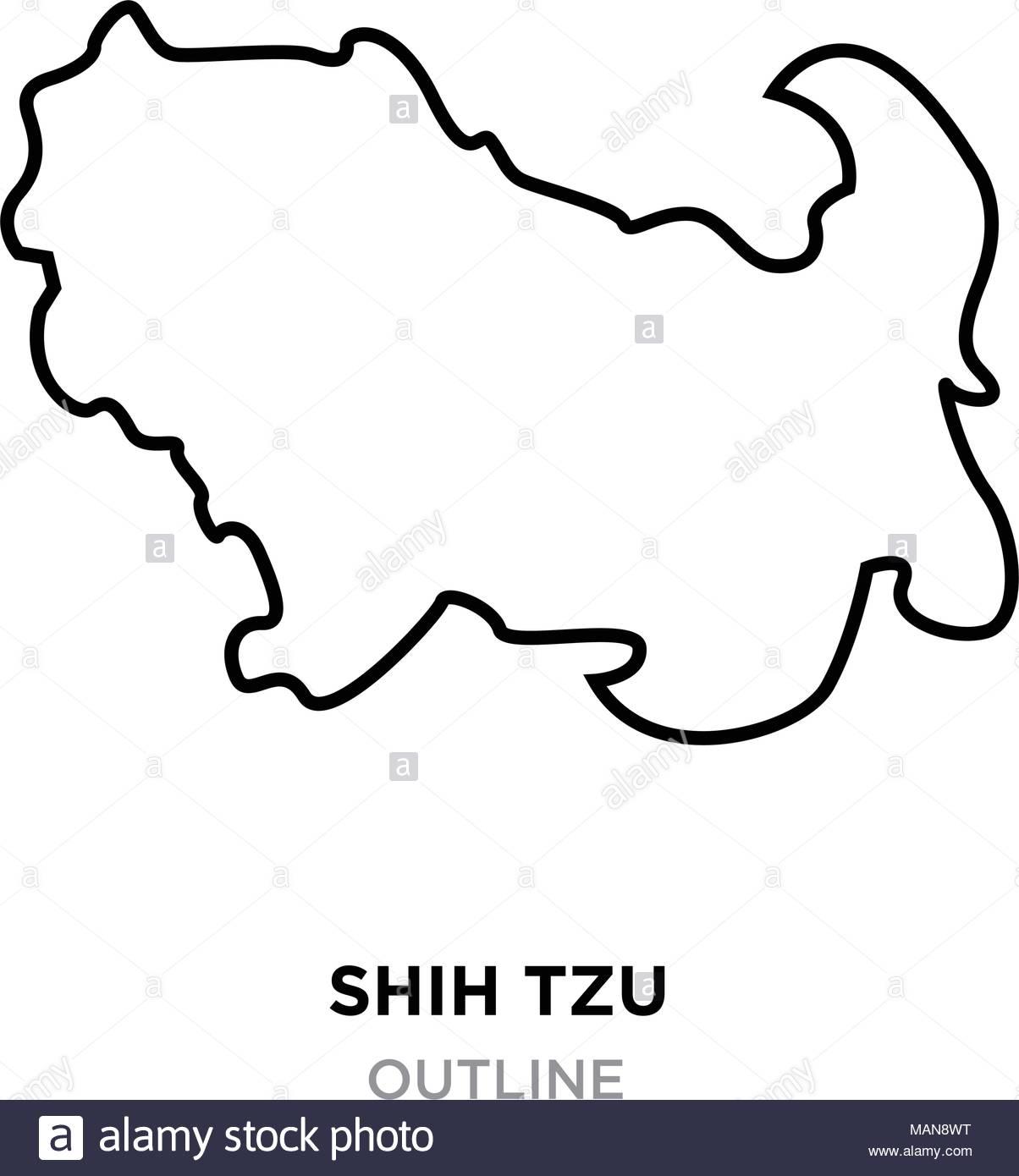 1204x1390 Shih Tzu Silhouette Stock Photos Amp Shih Tzu Silhouette Stock