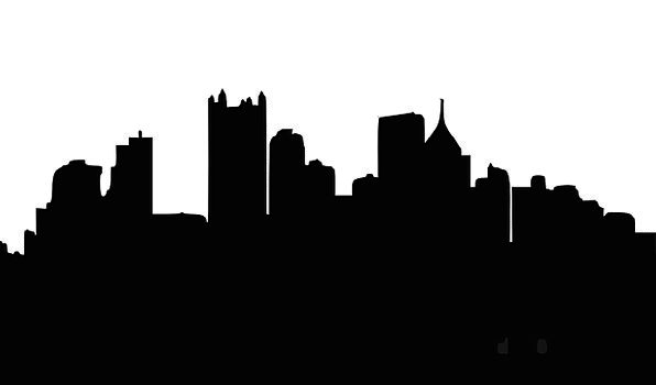 596x350 An Abstract Pittsburgh Skyline Stock Footage Video 497173