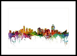 250x183 Cincinnati Skyline Framed Art Prints Fine Art America