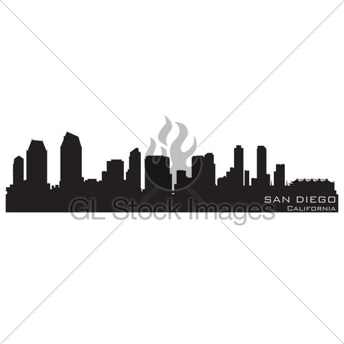 500x500 Fresno California City Skyline Vector Silhouette Gl Stock Images