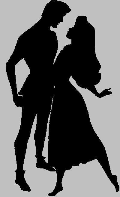 400x655 Disney Princess And Prince Silhouettes Disney Couples Dancing