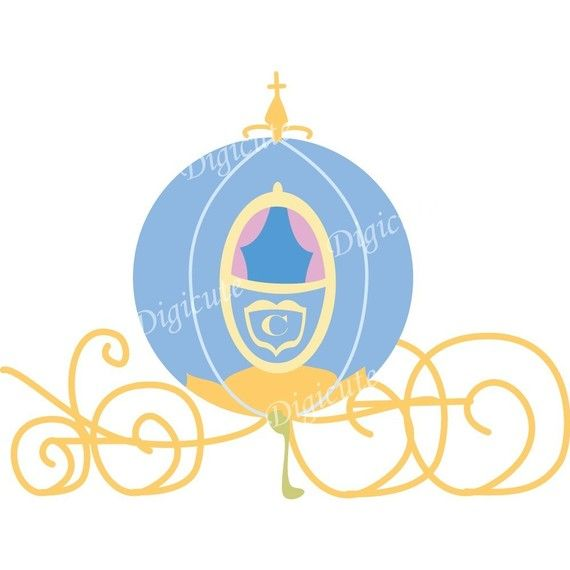 570x570 Disney Princess Cinderella's Pumpkin Carriage Digital Clip Art