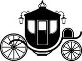 170x127 Fairy Tale Castle Silhouette Cinderella Carriage Silhouette